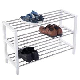Promotion placards blancs Porte-chaussures à 3 rangs blanc