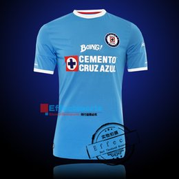 Wholesale 2016 Mexico Club Maillot De Foot Cruz Azul home Away Third Soccer Jerseys Blue cross GIMENEZ CROSAS ROJAS Football Shirts