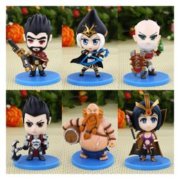 Wholesale 2016 For League of Legends ACTION FIGURE SET OF Darius Leblanc Gragas Ashe Singed Graves Good quality LOL Collectibles IN STOCK