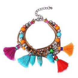 Bracelet de perles en bois de couleur Bracelet de perles en bois de perles à partir de bracelets en bois faits à la main fournisseurs