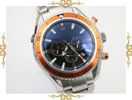 luxury brand watch men orange bezel automatic movement Professional waches Co-Axial planet ocean sea master watches men dive wristwatches