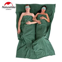 Х большой для продажи-Naturehike двойной летом спальный мешок лайнер мешок внутренние мешки портативный большой размер на открытом воздухе кемпинга использования отеля 220 X 160 см
