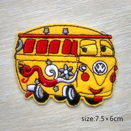 Fillmore The cars Volkswagen Yellow Embroidered Motif Iron On Patch Shirt Kids Toy Gift baby Decorate Individuality 10pc