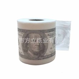 Wholesale 2016 Hot Creative Selling Trump Toilet Paper Beautiful Comfortable10pcs Disposable Paper Dollar Web