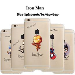 Transparent Pattern Soft TPU Iron Man Sider Man Hupk Captian America Cartoon Case Cover For iPhone X 8 PLUS 8 7 6S 6 PLUS Samsung S9 PLUS S9