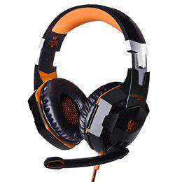 Professional Gaming Headset KOTION CHAQUE G2000 Over Ear Bandeau Avec Mic Stereo Bonne Basse LED pour PC Game à partir de jeu casque professionnel fabricateur
