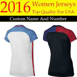 Wholesale new2016 united states women soccer jersey AlEX MORGAN LLOYD female camisas abby WAMBACH black football shirts best quality