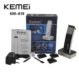100% Original KEIMEI KM-619 Rechargeable Hair Cipper Electric Shaving Machine Razor Barber Cutting Beard Trimmer Haircut Set Cord(0604059)