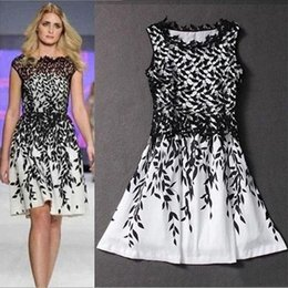 Women's dress plus size Casual Dresses summer sexy Lace print sleeveless T-shirt skirt Mini vintage skirts Wedding dresses A11