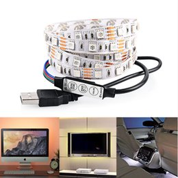Wholesale Lighting for HDTV USB LED Backlight Strip RGB Bright V LED Neon Accent Lighting System for Flat Screen TV LCD Desktop Monitors