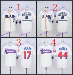 Wholesale bad news bears movie button down jersey Baseball Cool Base Jersey Best quality Authentic Jerseys Embroidery Logo Size M XL Mix Order