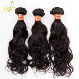 Brésilienne naturel vague cheveux Virgin 3Pcs Lot de la qualité 7A non traité brésilien cheveux vagues d'eau naturelle tissages Bundles couleur naturelle enchevêtrement à partir de grade 7a vierges faisceaux de cheveux bresilien fabricateur