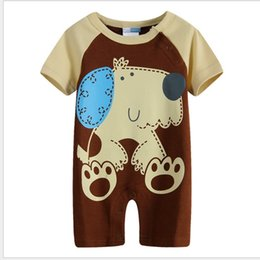 40pcs Baby Boys Short Rompers Summer Newborn One-Piece Clothes Animal Print Infant Costumes New Born Romper Shortall Overalls