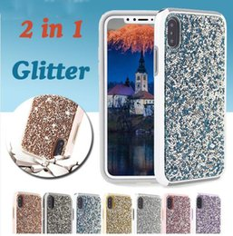 Luxury Dual Layer Hybrid Rhinestone Bling Diamond Armor Defender Case Back Cover for Apple Iphone X 10 8 7 6S plus 5SE Samsung Note 8 S8plus