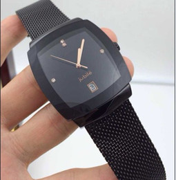 High-quality stainless steel mesh belt gold color silver black multicolor waterproof couple watches quartz watch business fashion new style