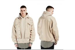 Denim jacket men with hole fashion streetwear jaqueta jeans masculina mens jackets and coats oversize bat design kanye west