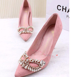 Wholesale High quality women shoes Mask pointed high heeled shoes with diamond single shoes sexy stilettos lighter shoes fashion wedding shoes34