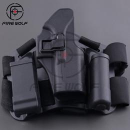 Wholesale Armiyo Drop Leg Tactical Hunting Thigh Holster System For G17 G19 G22 G23 Magazine Bag Holster Flashlight Bag Thigh Board Black