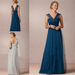 Wholesale New Arrivel Yoo Bridesmaid Dresses Mismatched Column Tulle Alternative Convertible Multi Way Bridal Party Gown For Bohemian Wedding