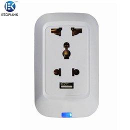 Wholesale ETOPLINK EK C03 Smart WiFi Socket USB Intelligent Remote Control Plug for TV Lamp Speaker Kettle Electrical Appliances EU Plug