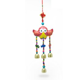 Wholesale 2016 Cartoon Wind Handmade Crafts Home Decoration Kids Gifts Wind Chimes Lucky wind chime Chinese knot bells National Wind Wind Chime