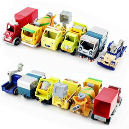 Wholesale Bob the builder engineering diecast tractor crane farm bulldozer truck vehicle cartoon cars action figure toys durable for baby USA SELLER