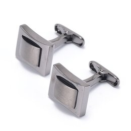 Wholesale Lots Retail Black Cufflinks Luxury Mens Cuff Links Brand Trendy Business Casual Designer Copper Cuff Links 930073