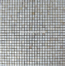 Wholesale Mother of pearl tile thickening square white kitchen backsplash mosaic shell bathtub tile bathroom wall flooring covering tile