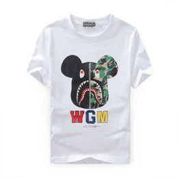 Wholesale 2016 Autumn shark t shirts ture brand Violent bear coat sweatshirts top mens designer clothes plus size black white Animal Print