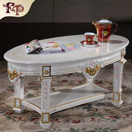 Wholesale Antique reproduction furniture manufacturer European classic coffee table Italian coffee table