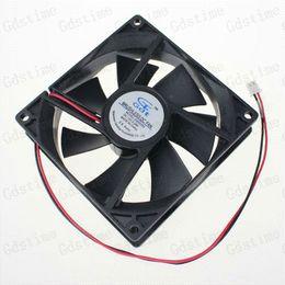 2pcs Lot Mute 2Pin 12v 92x25mm 90mm 9cm Computer CPU Water Cooler Cooling Fan Fans & Cooling
