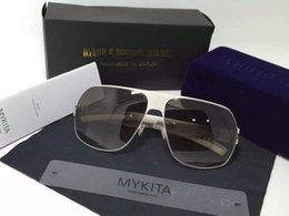 Wholesale 2016 Mykita Bernhard Willhelm quot XAVER quot Sunglasses Silver Square Mirrored Lens Brand New with box