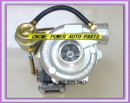 TURBO GT2860 GT28 Turbocharger Compressor: A R .42 Turbine:A R .64 T25 water oil Cooled 5 bolt air inlet: 2.5
