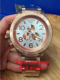 Free shipping New CHRONO NIXO 51-30 Chrono All Rose Gold Chronograph Mens Watch A083 A083-100 Watch