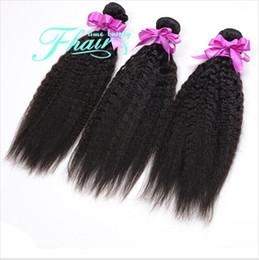 8A Brazilian Yaki Straight Hair Weave 3 Bundles Grace Hair Coarse Light Yaki Extensions Hair Full Cuticle Hold
