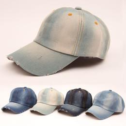 Wholesale hot sale summer Vintage women cowboy baseball cap ladies snapback hats denim jeans leisure travel caps Sun hat colors B796