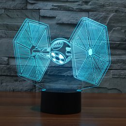 Wholesale Creative Gifts Star Wars Tie Fighter Lamp D Deco Vision Desk Lampara Led USB Colors Changing Baby Sleeping Night Light