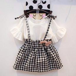 2-6T Sweet Girls Trumpet Sleeves Dress Kids Short Sleevelss Imitate Sundress Summer Clothing Cotton Clothes Girl Casual Wear