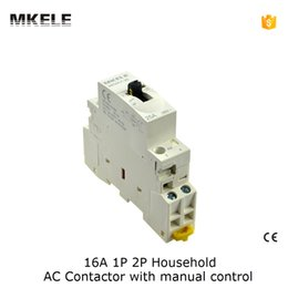 Wholesale MKWCT M no nc V Coil A Poles P Household Module AC Contactor AC250V with manual control