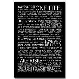 Wholesale LOVE YOUR LIFE Motivational Inspirational Quotes Art Silk Fabric Poster Print x36 inches Home Office Decor fruits oil painting