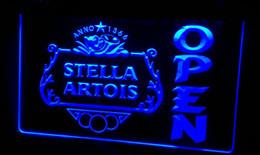 LS462-b Stella Artois Beer OPEN Bar Neon Light Sign
