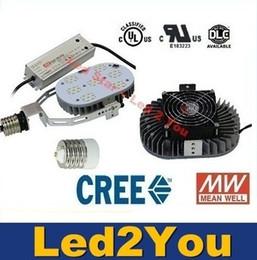 Wholesale DLC UL Retrofit Kits Led Light E40 E27 W W W W LED Street Lights CREE Chip MeanWell Driver AC V