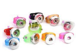 Wholesale 100Pcs Candy Color Rings NOOSA Fashion DIY Chunk Snap Button Ring DIY Noosa Jewelry for Fashion DIY children s Rings August Style