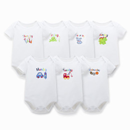 Wholesale 2016 Most Popular Newborn Plain White Jumpsuit Baby Bodysuits First Baby with Organic Cotton Months Online