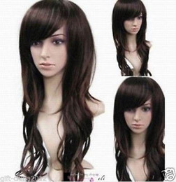 100% Brand New High Quality Fashion Picture full lace wigs>> New Long Dark brown hair wavy Wigs for women wig