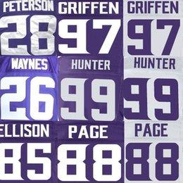 Wholesale Alan Page Jersey Danielle Hunter Everson Griffen Rhett Ellison Trae Waynes Adrian Peterson American Football Jerseys Elite sport