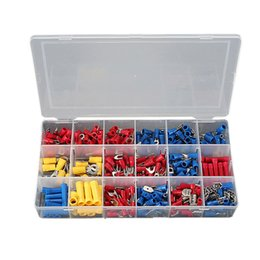 Wholesale Industry Assistance Mixed Assorted Insulated Crimp Terminals Sleeve Kit Electrical Insulated Wires Connector Spade Set