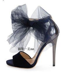 Promotion chaussures habillées pour les femmes prix 2017 nouvelle mode de mariage en mousseline de soie chaussures chaussures robe de soirée haute talon aiguille talon chaussures de haute qualité de prix raisonnable