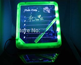 Wholesale 100pcs LED Message Board LED Display Handwritten Fluorescence Plate LED Display With A Highlighter Kids Painting Writing Panel