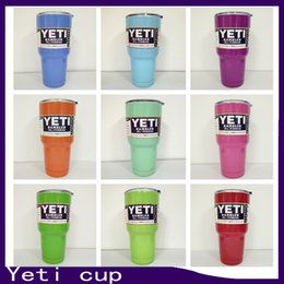 Wholesale High quality right seiz oz Yeti cup Rambler YETI Coolers Rambler Tumbler Stainless Steel Double Walled Travel Mug